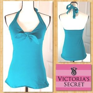 VICTORIA SECRET Turquoise Halter • Push-Up Bra Top